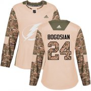 Cheap Adidas Lightning #24 Zach Bogosian Camo Authentic 2017 Veterans Day Women's Stitched NHL Jersey