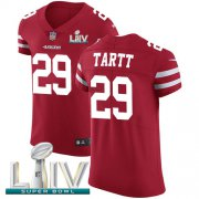 Wholesale Cheap Nike 49ers #29 Jaquiski Tartt Red Super Bowl LIV 2020 Team Color Men's Stitched NFL Vapor Untouchable Elite Jersey