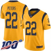 Wholesale Cheap Nike Rams #22 Marcus Peters Gold Men's Stitched NFL Limited Rush 100th Season Jersey