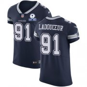 Wholesale Cheap Nike Cowboys #91 L.P. Ladouceur Navy Blue Team Color Men's Stitched With Established In 1960 Patch NFL Vapor Untouchable Elite Jersey