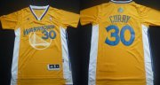 Wholesale Cheap Golden State Warriors #30 Stephen Curry Revolution 30 Swingman Yellow Short-Sleeved Jersey