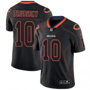 Wholesale Cheap Nike Bears #10 Mitchell Trubisky Lights Out Black Men's Stitched NFL Limited Rush Jersey