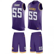 Wholesale Cheap Nike Vikings #55 Anthony Barr Purple Team Color Men's Stitched NFL Limited Tank Top Suit Jersey
