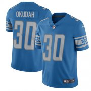 Wholesale Cheap Nike Lions #30 Jeff Okudah Blue Team Color Youth Stitched NFL Vapor Untouchable Limited Jersey