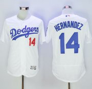 Wholesale Cheap Dodgers #14 Enrique Hernandez White Flexbase Authentic Collection Stitched MLB Jersey