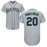 Wholesale Cheap Mariners #20 Dan Vogelbach Grey Flexbase Authentic Collection Stitched MLB Jersey
