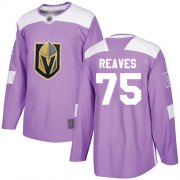 Wholesale Cheap Adidas Golden Knights #75 Ryan Reaves Purple Authentic Fights Cancer Stitched NHL Jersey