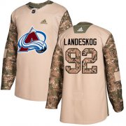 Wholesale Cheap Adidas Avalanche #92 Gabriel Landeskog Camo Authentic 2017 Veterans Day Stitched Youth NHL Jersey