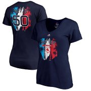 Wholesale Cheap Boston Red Sox #50 Mookie Betts Majestic Women's 2019 Spring Training Name & Number V-Neck T-Shirt Navy
