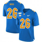Wholesale Cheap Pittsburgh Panthers 26 Chawntez Moss Blue 150th Anniversary Patch Nike College Football Jersey