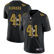 Wholesale Cheap New Orleans Saints #41 Alvin Kamara Men's Nike Team Logo Dual Overlap Limited NFL Jersey Black