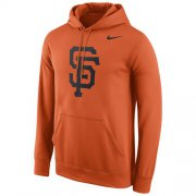 Wholesale Cheap San Francisco Giants Nike Logo Performance Pullover Orange MLB Hoodie