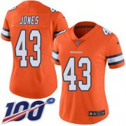 Wholesale Cheap Nike Broncos #43 Joe Jones Orange Women's Stitched NFL Limited Rush 100th Season Jersey