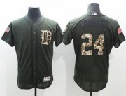 Wholesale Tigers #24 Miguel Cabrera Green Flexbase Authentic Collection Salute to Service Stitched Baseball Jersey