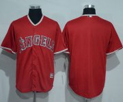 Wholesale Cheap Angels of Anaheim Blank Red New Cool Base Stitched MLB Jersey