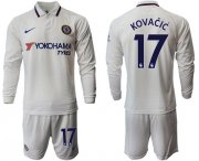 Wholesale Cheap Chelsea #17 Kovacic Away Long Sleeves Soccer Club Jersey