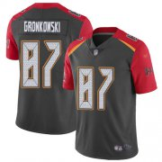 Wholesale Cheap Nike Buccaneers #87 Rob Gronkowski Gray Men's Stitched NFL Limited Inverted Legend Jersey