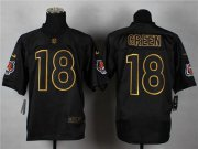 Wholesale Cheap Nike Bengals #18 A.J. Green Black Gold No. Fashion Men's Stitched NFL Elite Jersey