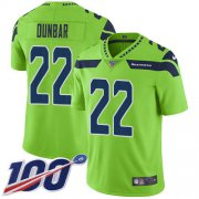 Wholesale Cheap Nike Seahawks #22 Quinton Dunbar Green Youth Stitched NFL Limited Rush 100th Season Jersey