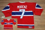 Wholesale Cheap Canadiens #7 Howie Morenz Stitched Red CH CCM Throwback NHL Jersey