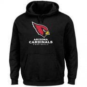 Wholesale Cheap Men's Arizona Cardinals Black Critical Victory Pullover Hoodie