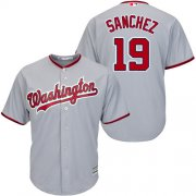 Wholesale Cheap Nationals #19 Anibal Sanchez Grey New Cool Base Stitched Youth MLB Jersey