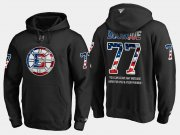 Wholesale Cheap Bruins #77 Ray Bourque NHL Banner Wave Usa Flag Black Hoodie