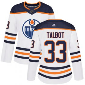 Wholesale Cheap Adidas Oilers #33 Cam Talbot White Road Authentic Women\'s Stitched NHL Jersey