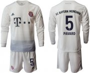 Wholesale Cheap Bayern Munchen #5 Pavard Away Long Sleeves Soccer Club Jersey