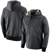 Wholesale Cheap Men's Oakland Raiders Nike Anthracite Salute to Service Player Performance Hoodie