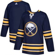 Wholesale Cheap Adidas Sabres Blank Navy Blue Home Authentic Youth Stitched NHL Jersey