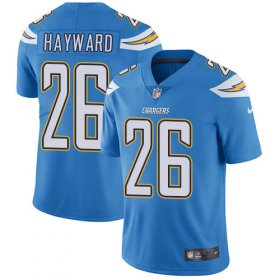 Wholesale Cheap Nike Chargers #26 Casey Hayward Electric Blue Alternate Men\'s Stitched NFL Vapor Untouchable Limited Jersey