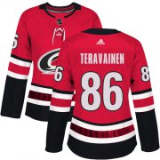 Wholesale Cheap Adidas Hurricanes #86 Teuvo Teravainen Red Home Authentic Women's Stitched NHL Jersey
