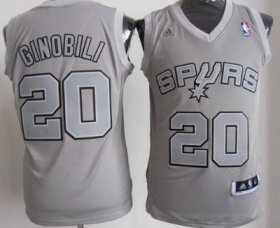 Wholesale Cheap San Antonio Spurs #20 Manu Ginobili Revolution 30 Swingman Gray Big Color Jersey