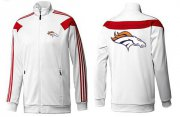 Wholesale Cheap NFL Denver Broncos Team Logo Jacket White_2