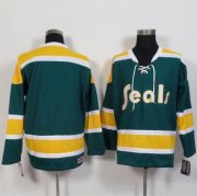 Wholesale Cheap Golden Seals Blank Green/Gold CCM Throwback Stitched NHL Jersey
