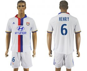 Wholesale Cheap Lyon #6 Henry Home Soccer Club Jersey