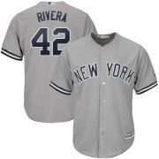 Wholesale Cheap New York Yankees #42 Mariano Rivera Majestic 2019 Hall of Fame Cool Base Player Jersey Gray