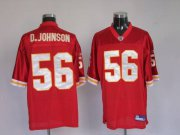 Wholesale Cheap Chiefs #56 Derrick Johnson Red Stitched NFL Jersey