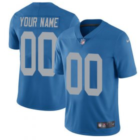 Wholesale Cheap Nike Detroit Lions Customized Blue Alternate Stitched Vapor Untouchable Limited Men\'s NFL Jersey