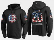Wholesale Cheap Bruins #20 Riley Nash NHL Banner Wave Usa Flag Black Hoodie