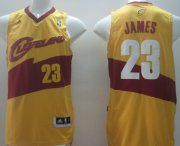 Wholesale Cheap Cleveland Cavaliers #23 LeBron James Revolution 30 Swingman 2014 Yellow Jersey