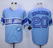 Wholesale Cheap Blue Jays #20 Josh Donaldson Light Blue Exclusive New Cool Base Stitched MLB Jersey