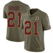 Wholesale Cheap Nike Redskins #21 Sean Taylor Olive Youth Stitched NFL Limited 2017 Salute to Service Jersey