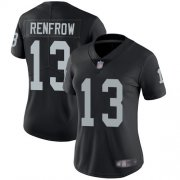 Wholesale Cheap Nike Raiders #13 Hunter Renfrow Black Team Color Women's Stitched NFL Vapor Untouchable Limited Jersey