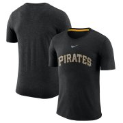 Wholesale Cheap Pittsburgh Pirates Nike Wordmark Tri-Blend T-Shirt Black