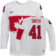 Wholesale Cheap Olympic 2014 CA. #41 Mike Smith White Stitched NHL Jersey