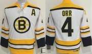 Wholesale Bruins #4 Bobby Orr White CCM Youth Stitched NHL Jersey