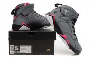 Wholesale Cheap WMNS Air Jordan 7 GS Shoes Gray/pink-white