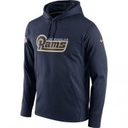 Wholesale Cheap Men's Los Angeles Rams Nike Navy Circuit Wordmark Essential Performance Pullover Hoodie